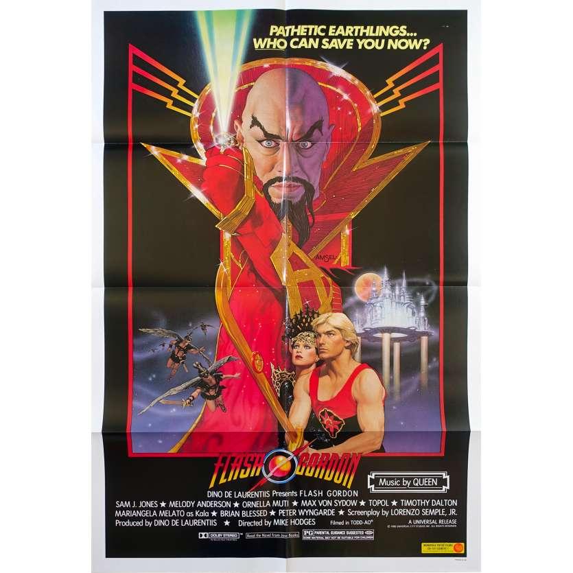 FLASH GORDON Original Movie Poster - 27x41 in. - 1980 - Mike Hodges, Max Von Sidow
