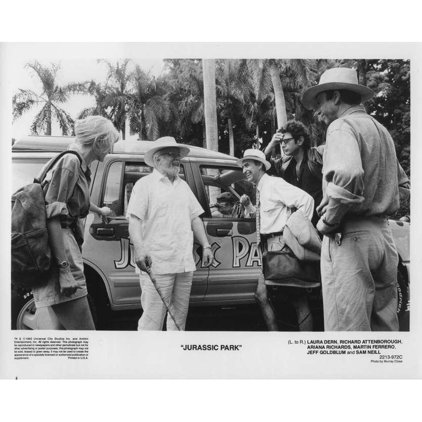 JURASSIC PARK Photo de film 2213-972C - 20x25 cm. - 1993 - Sam Neil, Steven Spielberg