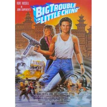BIG TROUBLE IN LITTLE CHINA Original Movie Poster - 9x16 in. - 1986 - John Carpenter, Kurt Russel