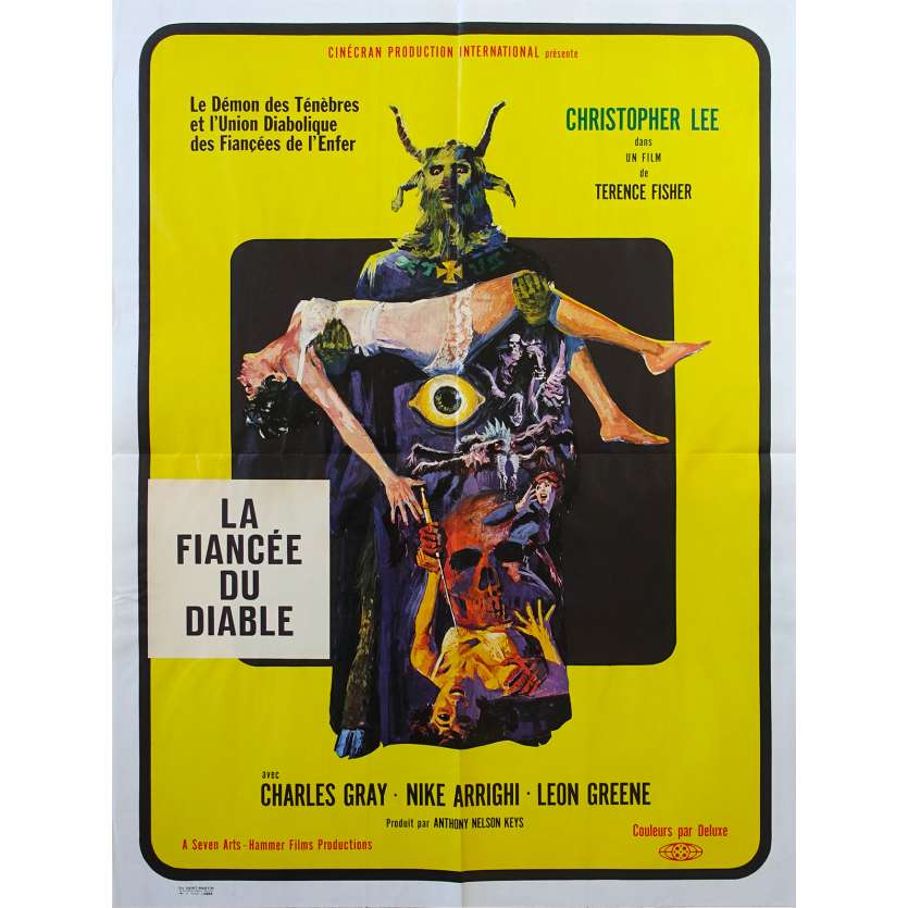 THE DEVIL RIDES OUT Original Movie Poster - 23x32 in. - 1968 - Terence Fisher, Christopher Lee