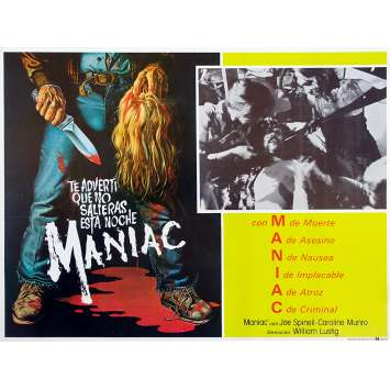MANIAC Original Lobby Card - 11x14 in. - 1980 - William Lustig, Joe Spinell