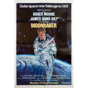 MOONRAKER Original Movie Poster Teaser, Style A - 27x41 in. - 1979 - James Bond, Roger Moore