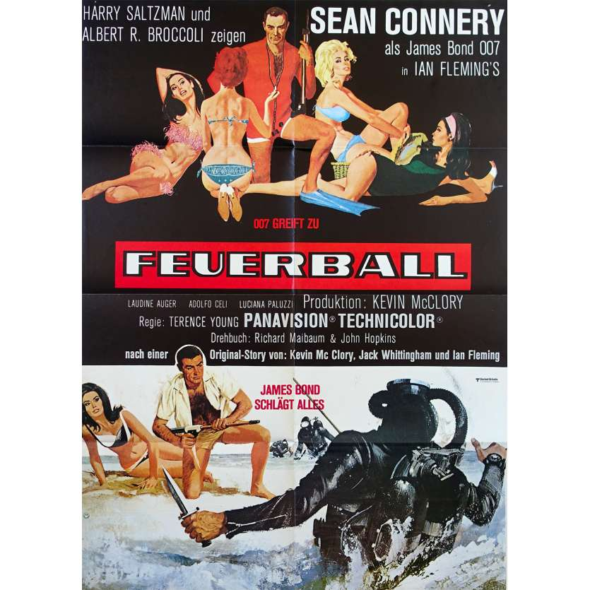 OPERATION TONNERRE Affiche de film - 59x84 cm. - R1970 - Sean Connery, James Bond