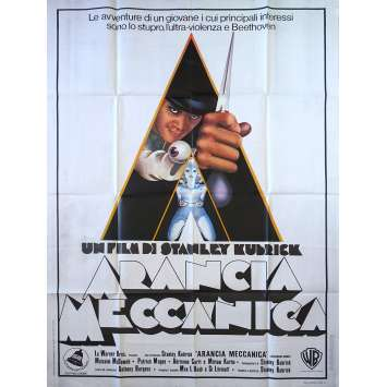 ORANGE MECANIQUE Affiche de film - 100x140 cm. - 1971 - Malcom McDowell, Stanley Kubrick