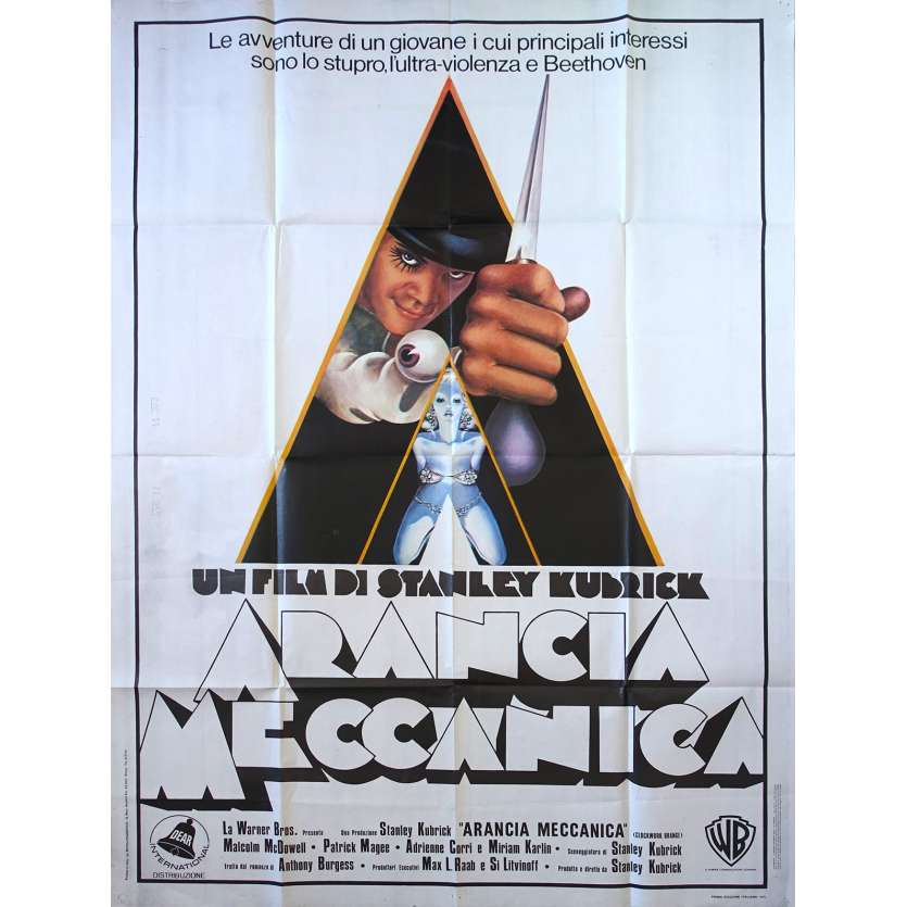 CLOCKWORK ORANGE Original Movie Poster - 39x55 in. - 1971 - Stanley Kubrick, Malcom McDowell
