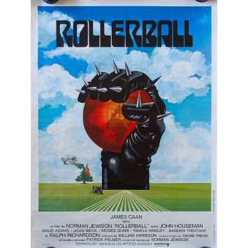 ROLLERBALL Original Movie Poster - 23x32 in. - 1975 - Norman Jewinson, James Caan