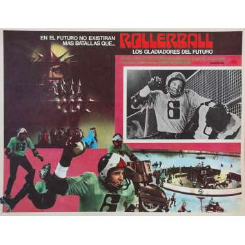 ROLLERBALL Original Lobby Card - 11x14 in. - 1975 - Norman Jewinson, James Caan