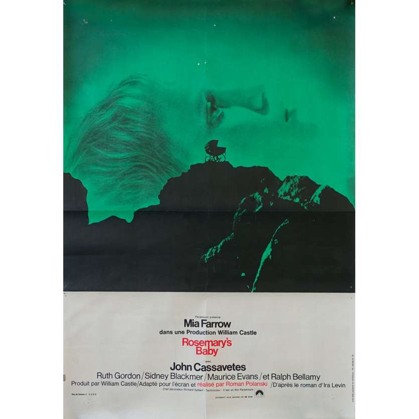 ROSEMARY'S BABY Original Movie Poster - 15x21 in. - 1968 - Roman Polanski, Mia Farrow