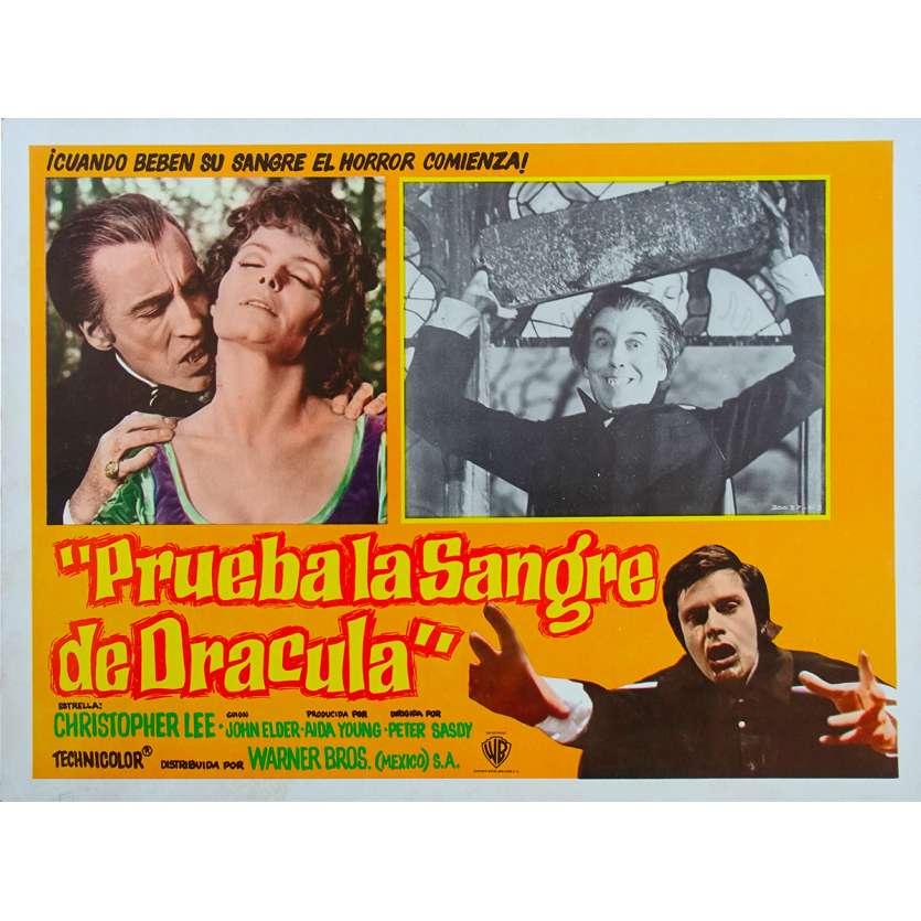 TASTE THE BLOOD OF DRACULA Original Lobby Card - 11x14 in. - 1970 - Peter Sasdy, Christopher Lee