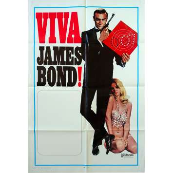 VIVA JAMES BOND Original Movie Poster - 27x41 in. - 1970 - James Bond, Sean Connery