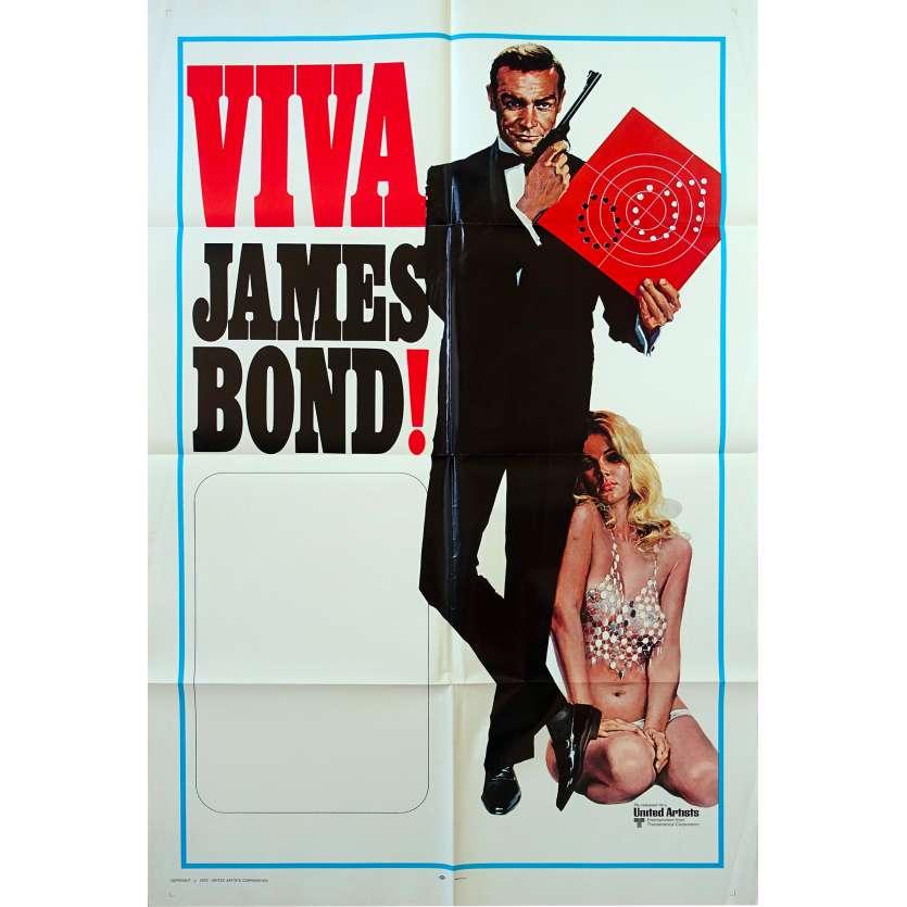 VIVA JAMES BOND Original Movie Poster - 27x41 in. - 1970 - James Bond, Sean Connery