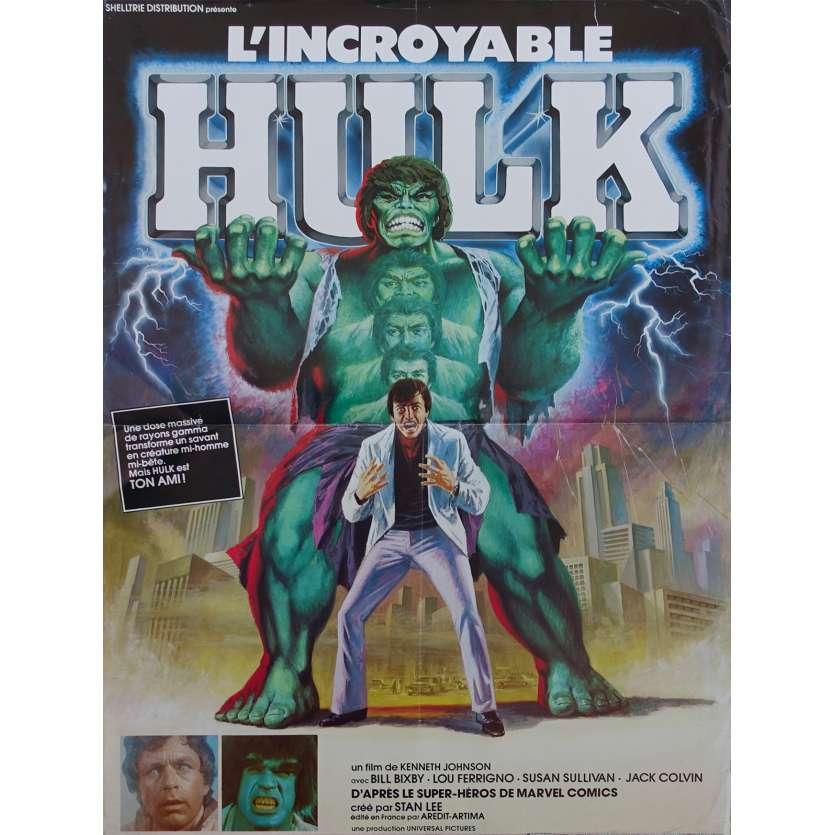 L'INCROYABLE HULK Affiche de film - 40x60 cm. - 1978 - Lou Ferrigno, Kenneth Johnson