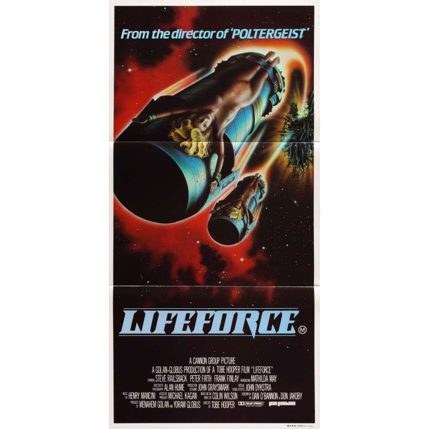 LIFEFORCE Australian Movie Poster 14x27 - 1985 - Tobe Hooper, Mathilda May