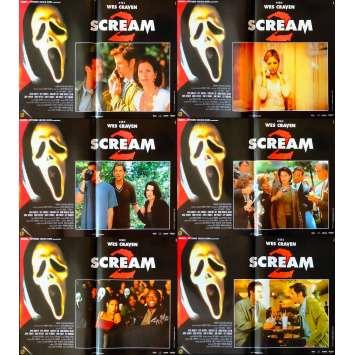 SCREAM Italian Photobustas x6 13x20 - 1996 - Wes Craven, Courtney Cox