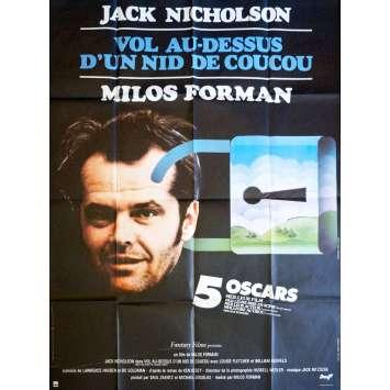 VOL AU DESSUS D'UN NID DE COUCOU Affiche de film 120x160 - 1975 - Jack Nicholson, Milos Forman