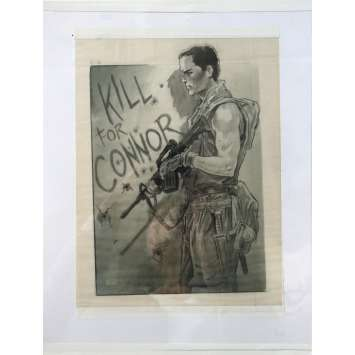 TERMINATOR SALVATION Original Hand drawned sketch by Michael Hopkins, Concept Art