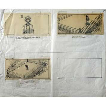 TENDRE COMBAT Storyboard original - 1979 - Barbra Streisand, Howard Zieff, SHERMAN LABBY Rare !