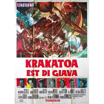 KRAKATOA EAST OF JAVA Original Movie Poster - 39x55 in. - 1968 - Bernard L. Kowalski, Maximilian Schell