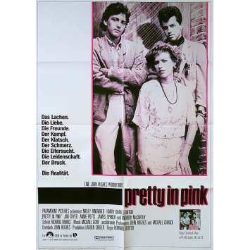 PRETTY IN PINK Original Movie Poster - 23x33 in. - 1986 - John Hughes, Molly Ringwald,