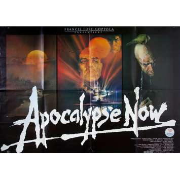 APOCALYPSE NOW Affiche de film - 118x83 cm. - 1979 - Marlon Brando, Francis Ford Coppola