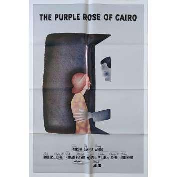 LA ROSE POURPRE DU CAIRE Affiche de film N01 - 69x102 cm. - 1985 - Mia Farrow, Woody Allen