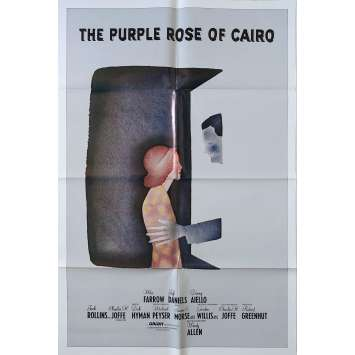 THE PURPLE ROSE OF CAIRO Original Movie Poster N01 - 27x40 in. - 1985 - Woody Allen, Mia Farrow