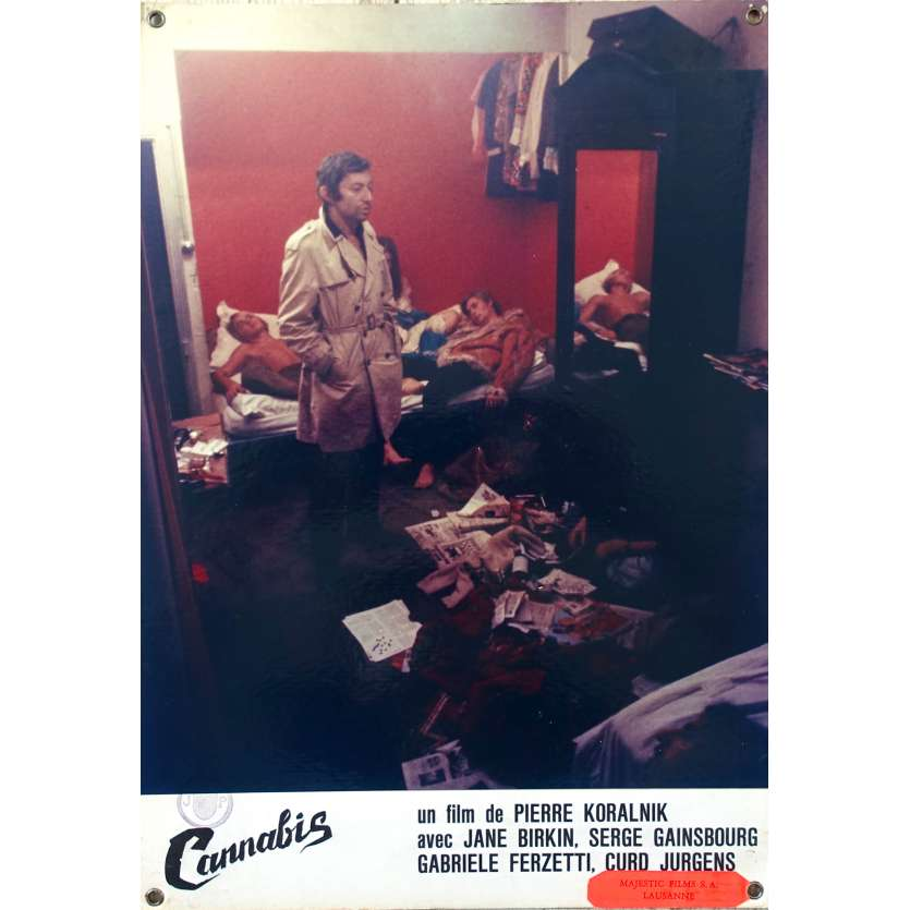CANNABIS Original Lobby Card N03 - 9,5x13,5 in. - 1970 - Serge Gainsbourg, Jane Birkin
