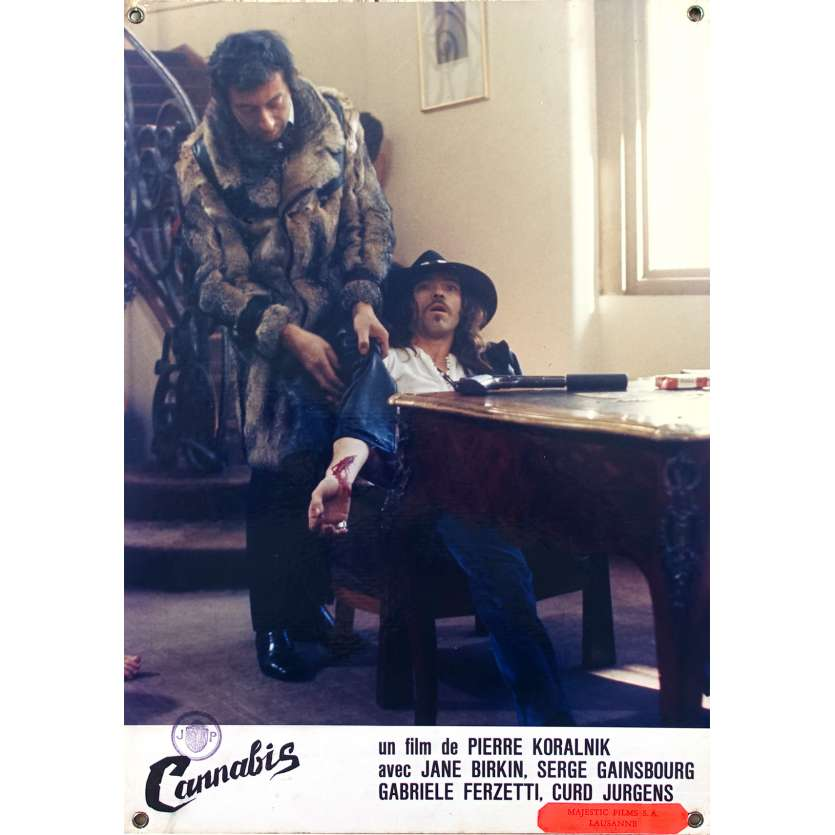 CANNABIS Original Lobby Card N05 - 9,5x13,5 in. - 1970 - Serge Gainsbourg, Jane Birkin