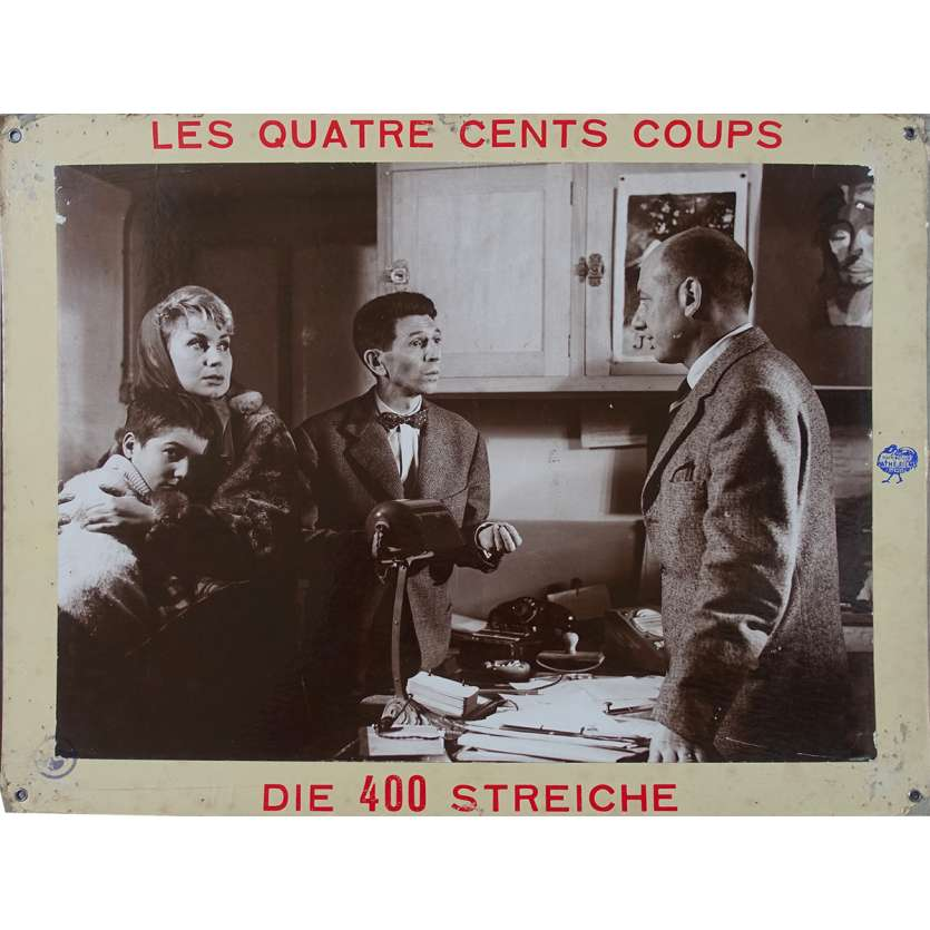 THE 400 BLOWS Original Lobby Card N04 - 14x18 in. - 1959 - François Truffaut, Jean-Pierre Léaud