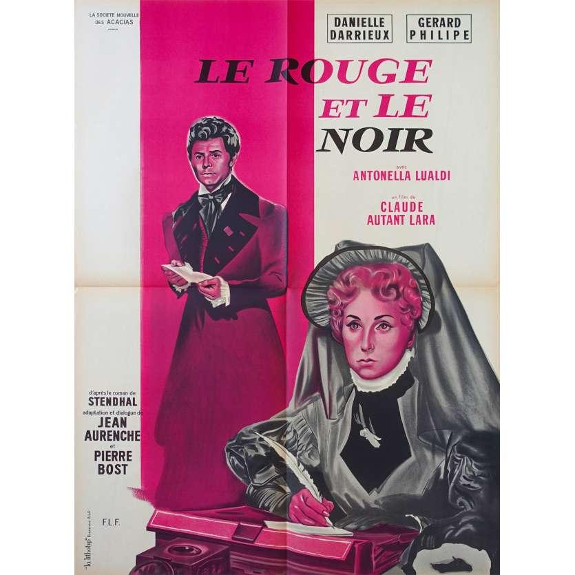 LE ROUGE ET LE NOIR Affiche de film 60x80 - 1954 - Gérard Philippe, Claude Autant-Lara