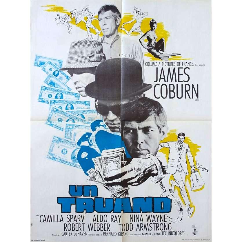 DEAD HEAT ON A MERRY-GO-ROUND French Movie Poster 23x32 - 1966 - Bernard Girard, James Coburn