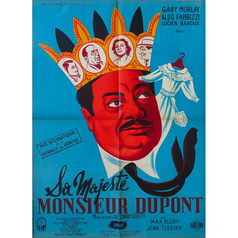 SA MAJESTE MONSIEUR DUPONT Affiche de film 60x80 - 1950 - Aldo Fabrizzi, Alessandro Blasetti