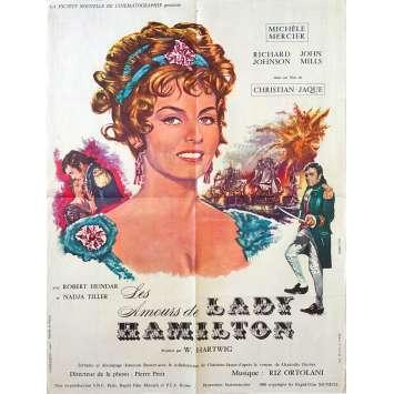 LES AMOURS DE LADY HAMILTON Affiche de film 60x80 - 1968 - Michèle Mercier, Christian-Jaque
