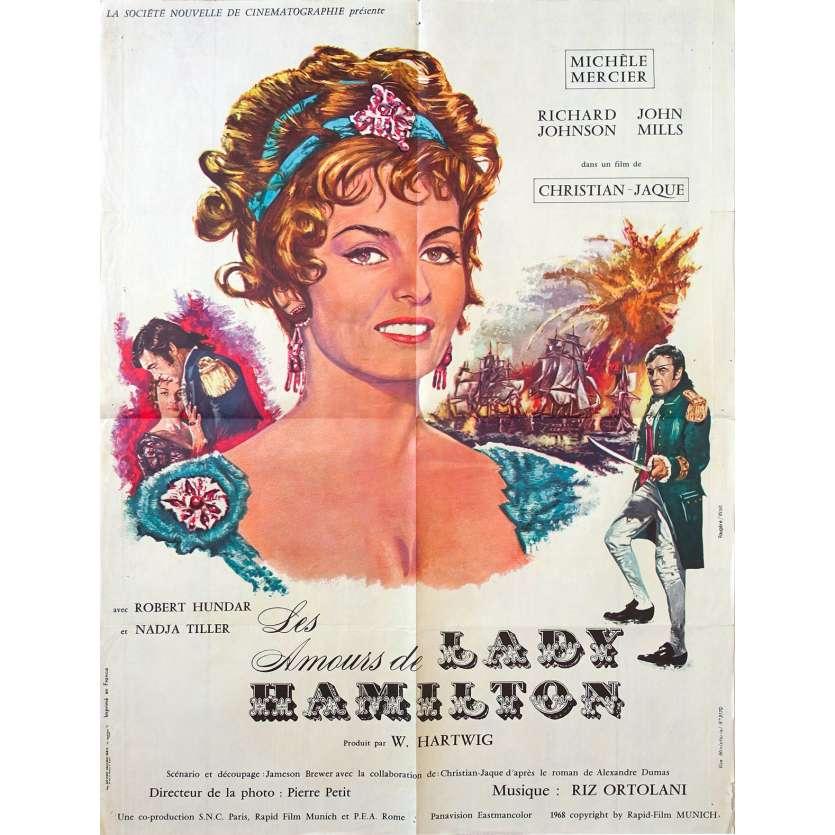 EMMA HAMILTON French Movie Poster 23x32- 1968 - Christian-Jaque, Michèle Mercier