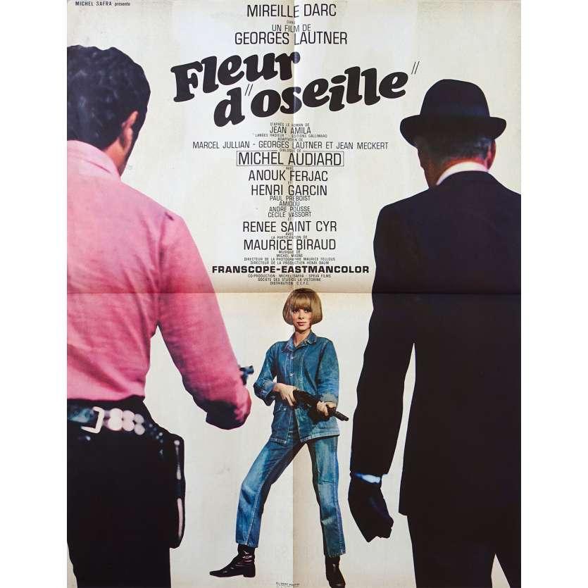 FLEUR D'OSEILLE Affiche de film 60x80 - 1967 - Mireille Darc, George Lautner
