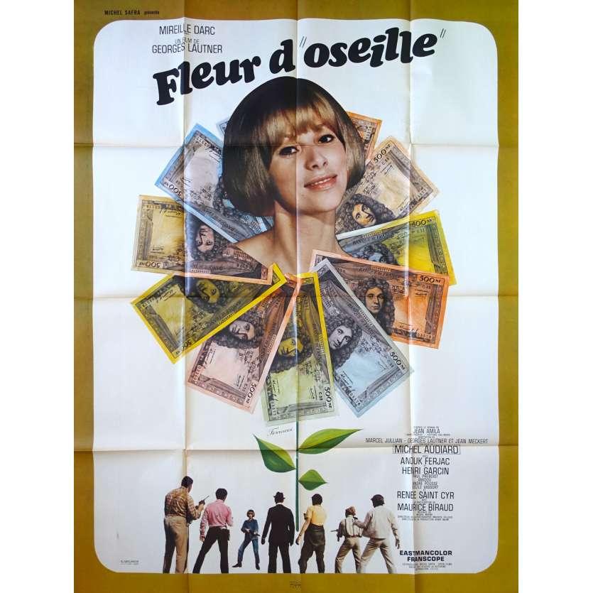 FLEUR D'OSEILLE Affiche de film 120x160 - 1967 - Mireille Darc, George Lautner