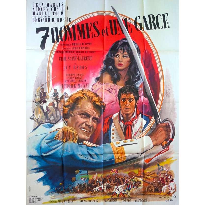 SEVEN GUYS AND A GAL French Movie Poster 47x63 - 1967 - Bernard Borderie, Jean Marais