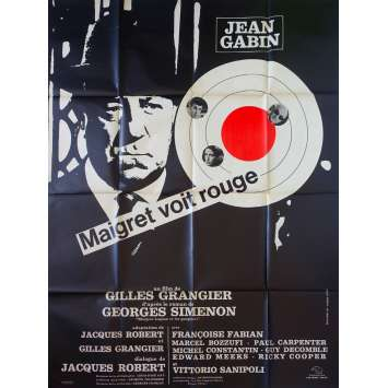 MAIGRET SEES RED French Movie Poster 47x63- 1963 - Gilles Grangier, Jean Gabin