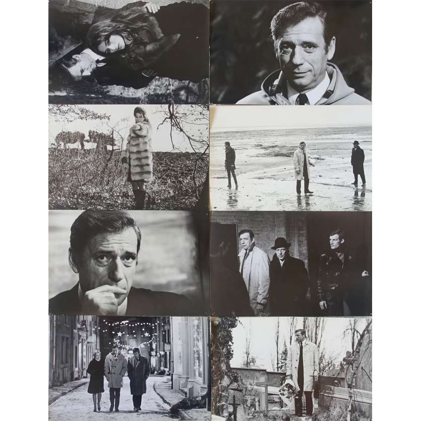 ONE NIGHT… A TRAIN French DeLuxe Stills x8 9x12 - 1968 - André Delveaux, Yves Montand
