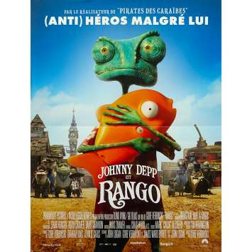 RANGO Affiche de film 40x60 - 2011 - Johnny Depp, Gore Verbinski