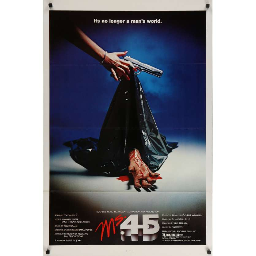 MS.45 / ANGEL OF VENGEANCE Original Movie Poster Hand Style - 27x40 in. - 1981 - Abel Ferrara, Zoë Lund