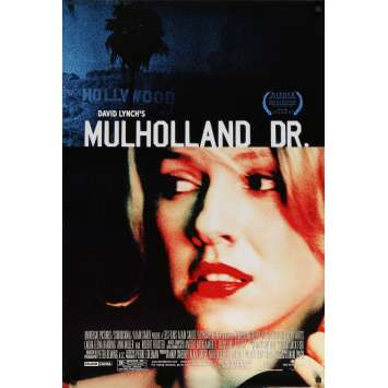 MULHOLLAND DR Original Movie Poster - 27x40 in. - 2001 - David Lynch, Naomi Watts