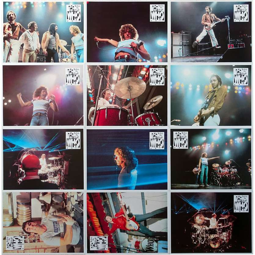 THE WHO : THE KIDS ARE ALRIGHT Original Lobby Cards x12 - 9x12 in. - 1979 - Jeff Stein, Roger Daltrey, Pete Townshend