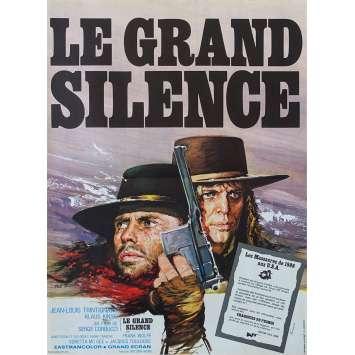 LE GRAND SILENCE Affiche de film - 40x60 cm. - 1968 - Sergio Corbucci, Jean-Louis Trintignant