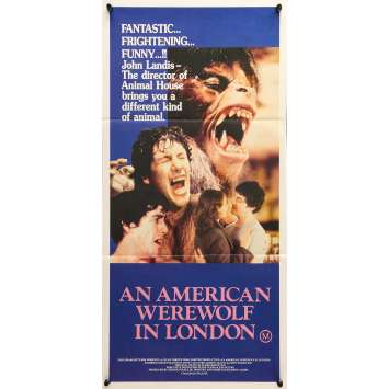 AN AMERICAN WEREWOLF IN LONDON Original Movie Poster - 13x30 in. - 1981 - John Landis, David Naughton