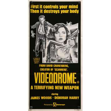 VIDEODROME Affiche de film - 33x78 cm. - 1983 - James Woods, David Cronenberg