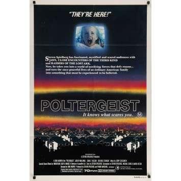 POLTERGEIST Original Movie Poster - 29x40 in. - 1982 - Steven Spielberg, Heather o'rourke