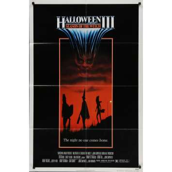 HALLOWEEN III SEASON OF THE WITCH Original Movie Poster - 27x41 in. - 1982 - Tommy Lee Wallace, Tom Atkins