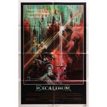 EXCALIBUR Affiche de film - 69x104 cm. - 1981 - Nigel Terry, Helen Mirren, John Boorman
