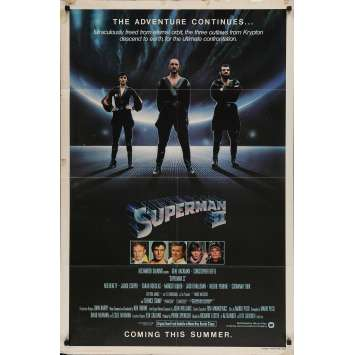 SUPERMAN 2 Original Movie Poster - 27x41 in. - 1977 - Richard Donner, Christopher Reeves